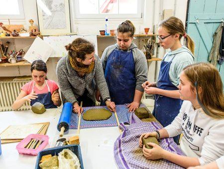 Kunstunterricht an der Hermann-Lietz-Schule Haubinda