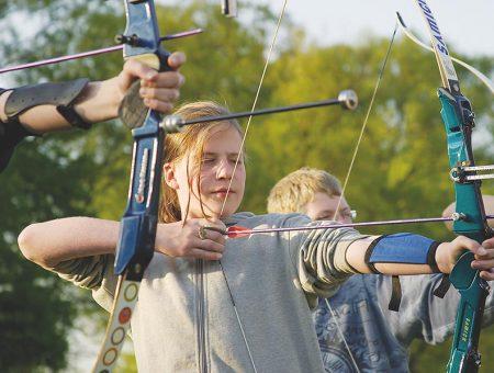 Bogensport im Landschulheim Steinmühle